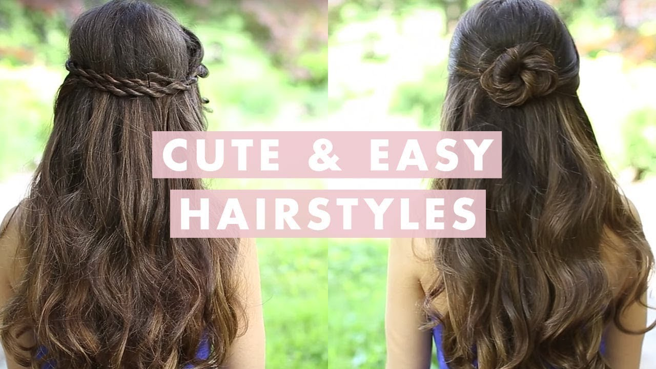 Cute and Easy Hairstyles - YouTube