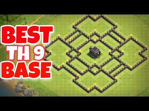 Best Th9 Farming Base Layout With Replays | Trophy/Farming Base L Clash Of Clans