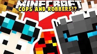 YOUTUBERS MODDED COPS AND ROBBERS HIDE AND SEEK MOD - Minecraft Mod (FUNNY MOMENTS) | JeromeASF