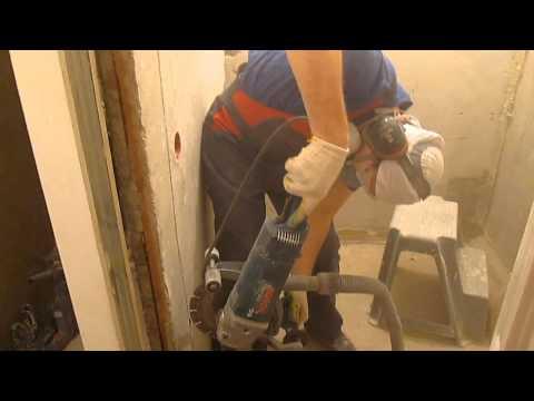 Восстановление перегородки между ванной и туалетом.