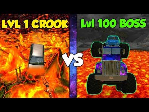 LEVEL 1 CROOK Vs LEVEL 100 BOSS - 1# BeamNG Drive (crashes & Stunts) And Fun