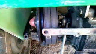 Смазка деталей выжима сцепления мототрактора (мотоблока).
