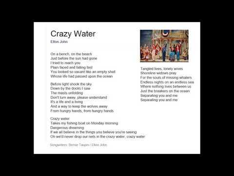 ARTISTS A ATO Z : ELTON JOHN - CRAZY WATER