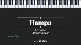 Hampa (LOWER KEY) Ari Lasso (KARAOKE PIANO)