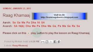 Raag Khamaaj Swaramalika Lesson