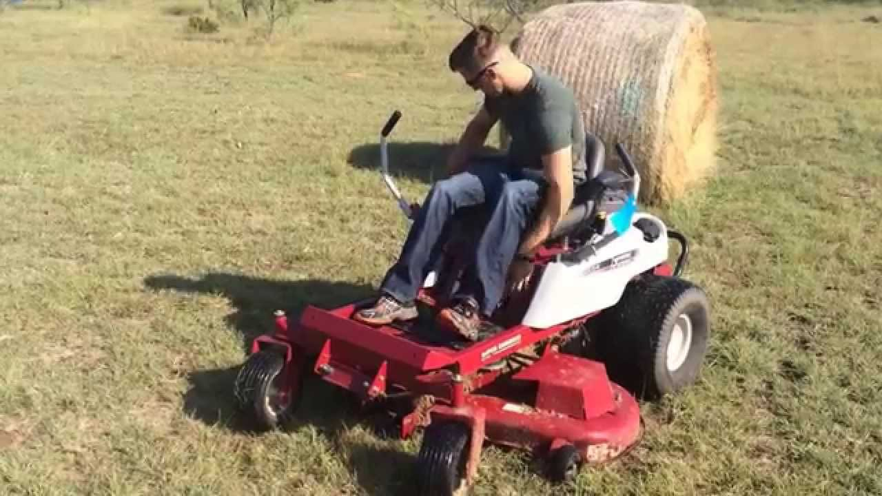Demo Of Our Pre Owned White Outdoor Zero Turn Mower For