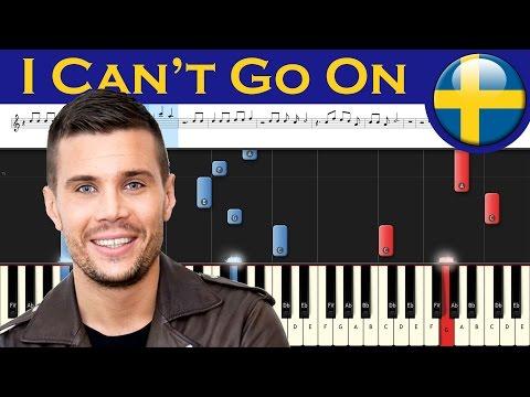 Robin Bengtsson - I Can't Go On - Sweden 2017 - Piano tutorial + MIDI