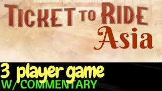 Ticket to Ride Asia PS4 -3 Player