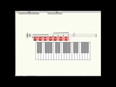Music Tutorial Major Scales Formula