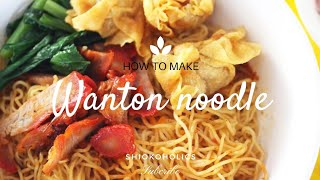 How To Make Wonton Noodles/wantan Noodles*pros & Cons Living In Sweden