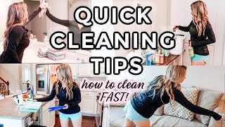 QUICK CLEANING TIPS FΟR BUSY PEOPLE | HOW TO CLEAN YOUR HOUSE FAST!
