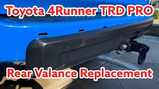 Toyota 4runner Trd Pro Rear Valance Bumper Replacement Youtube