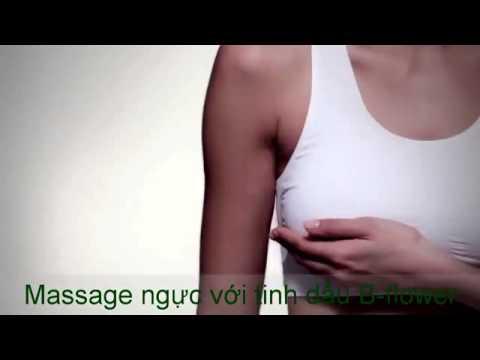 Hướng dẫn massage ngực với tinh dầu B flower   You