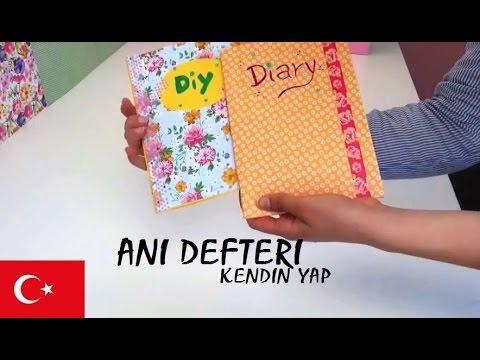 Anı DEFTERI Nasil Yapilir - DIY Türkce - OKUL ICIN DEFTERI BASIT VE CABUK YAPIMI