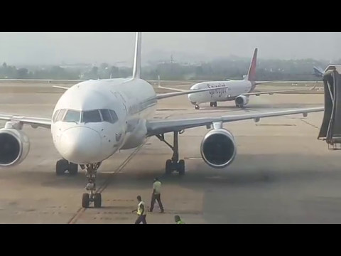 Nepal airlines   Arrival   Kempegowda International airport   Bengaluru