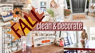 🍁FALL CLEAN & DECORATE WITH ME 2019! | EXTREME CLEANING MOTIVATION | DECORATE ON A BUDGET | SAHM