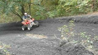 honda trx 450r climbing coal hill at hatfield mccoy trails