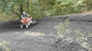 honda trx 450r climbing coal hill at hatfield mccoy trails