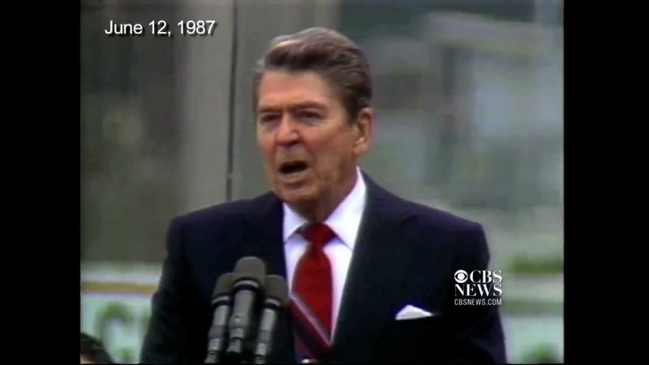 Mr Gorbachev Tear Down This Wall Ronald Reagan Berlin 1987