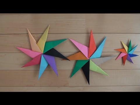 クリスマス 折り紙:手裏剣の作り方 折り紙-youtube.com