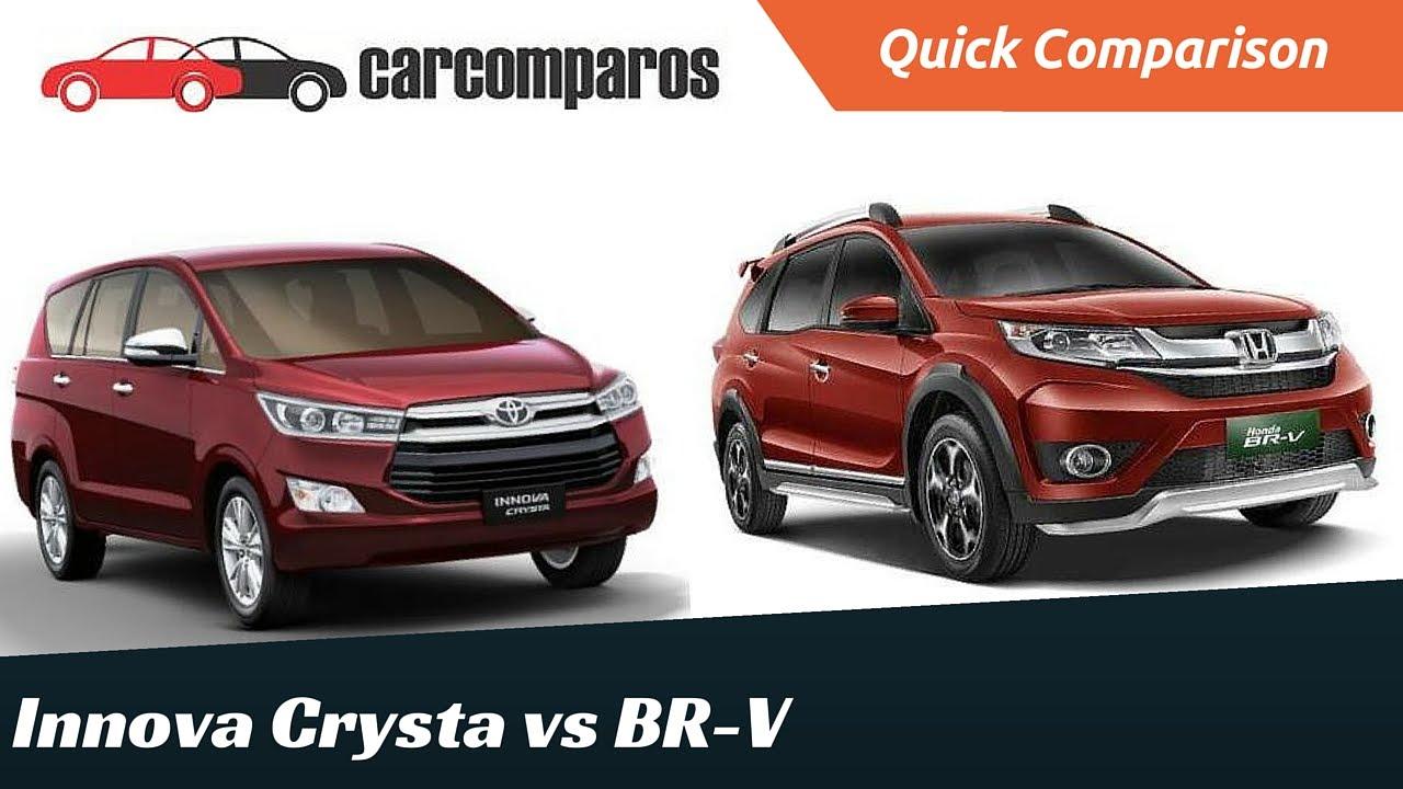 Innova crysta vs honda brv comparison review youtube for Honda brv philippines