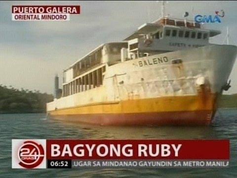 24 Oras: Barge, sumadsad sa marine sanctuary sa kasagsagan ng bagyo