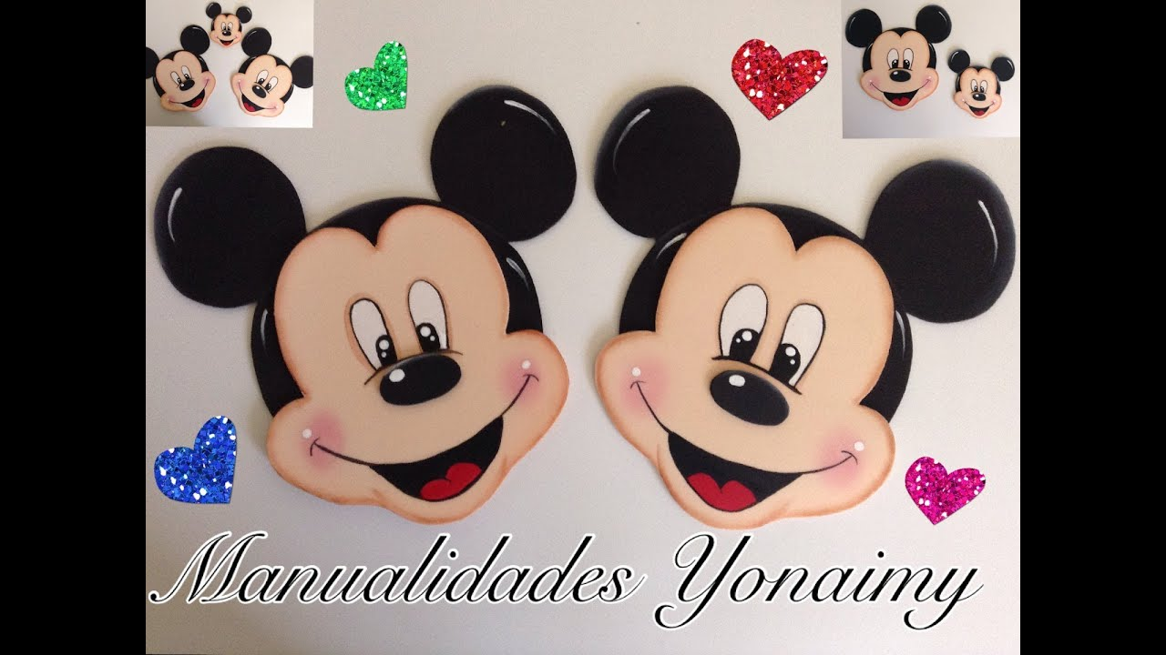 MICKEY MOUSE HECHO CON FOAMY O GOMA EVA - YouTube