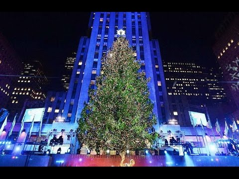 Rockefeller center christmas tree lighting 2016 - YouTube