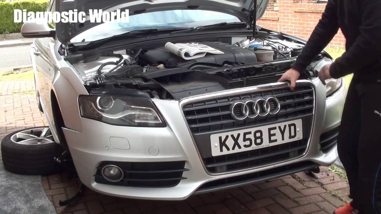 Audi A4 B8 Front Bumper Removal 2008 To 2015 Models Youtube
