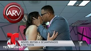 Pareja De Novios Celebró Su Boda Con Los Desamparados | Al Rojo Vivo | Telemundo