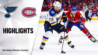 Blues @ Canadiens 10/12/19 Highlights