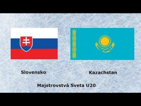 Slovensko VS Kazachstan Majstrovstvá Sveta U20 HIGHLIGHT