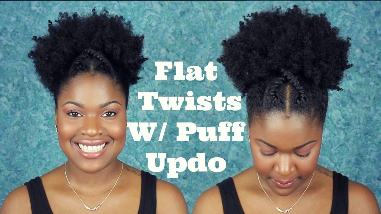 criss-cross flat twists with puff