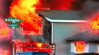San Bruno Fire - Intense flames burn down a house in minutes
