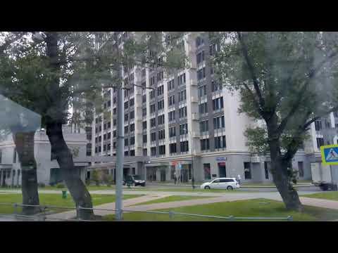 Москва 334 Краснобогатырская улица, ЖК Наследие, Мосгорсуд из окна трамвая 46 лето день