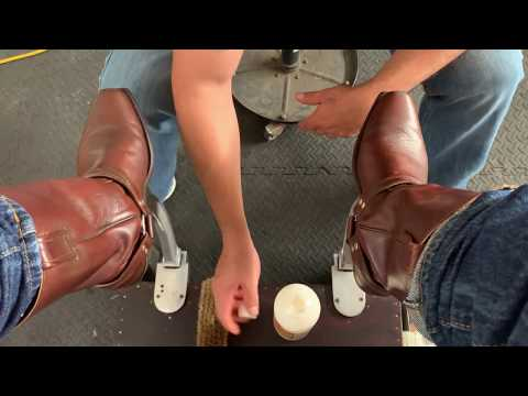 Shoeshine ASMR,  Western Boots Shine  Engineer Boots