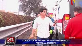 Conductor en aparente estado de ebriedad provocó accidente