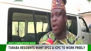 Taraba residents want EFCC and ICPC to work freely