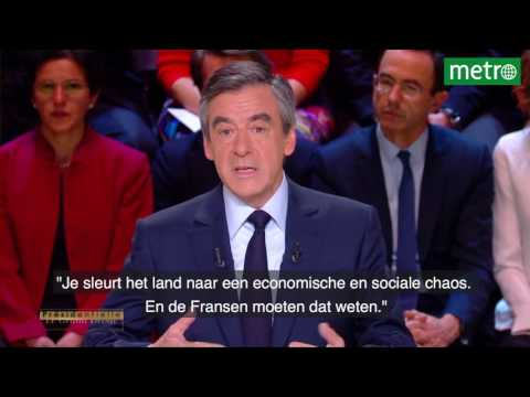 Eerste debat Franse presidentskandidaten