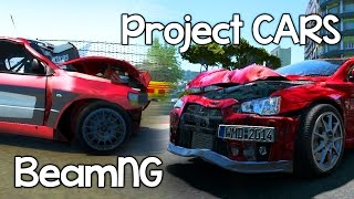Project CARS vs BeamNG Drive - CRASH TESTING [PC Gameplay Video]