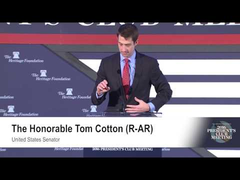 Sen. Tom Cotton on Military Service and Today
