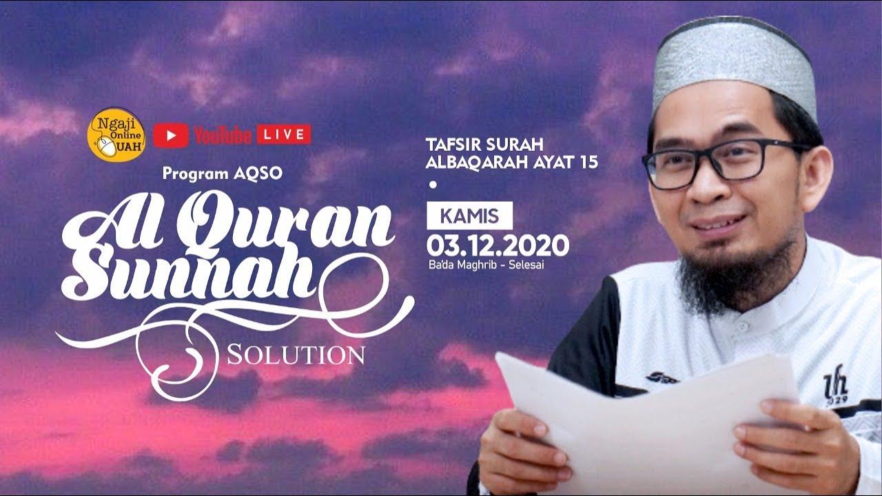 [LIVE] Lanjutan Program AQSO - Ustadz Adi Hidayat