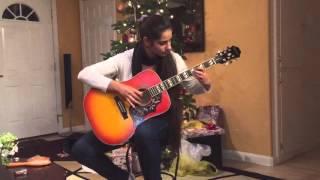 США. Игра на гитаре в праздник Рождество 2015