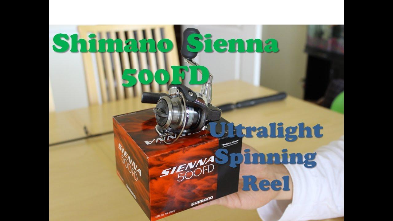"2PK Shimano Sienna 40/"" Moyen Lourd avec Sienna 1000FE de Pêche sur Glace COMBO/'s"