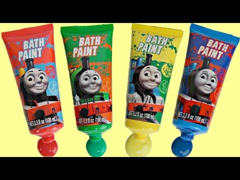 Thumbnail: Learn Colors with Thomas and Friends Bath Paint Soap, Toys Squirter, Fun Play / TUYC