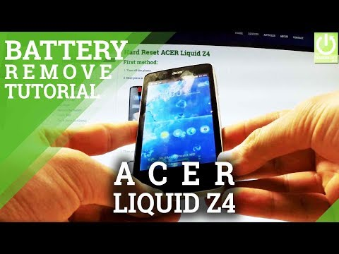 Remove the Battery in Back Cover in ACER Liquid Z4 - Soft Reset