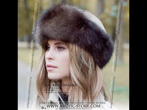 DIY-779 Barguzin sable roller fur hat golden deer suede top