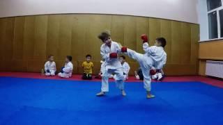 Тренировка начальной группы каратэ WKF. Training Karate WKF. Karate championship wkf