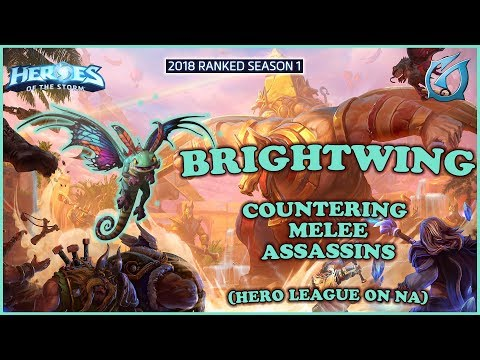 Grubby | Heroes of the Storm - Brightwing - Countering Melee - HL 2018 S1 - Sky Temple