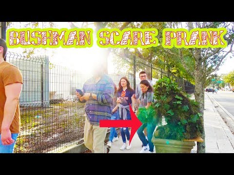 Bushman Prank At the Camping World Bowl Game - Funny Video - Scare Prank